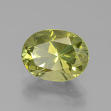 3.53 ct Oval Facet Golden Green Apatite Gem 10.94 mm x 8.3 mm (Photo B)