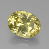 thumb image of 4.1ct Oval Facet Golden Yellow Apatite (ID: 438940)