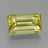 thumb image of 4.9ct Baguette Facet Golden Green Apatite (ID: 438947)
