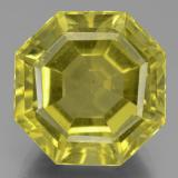 thumb image of 15.9ct Asscher Cut Greenish Golden Apatite (ID: 438948)