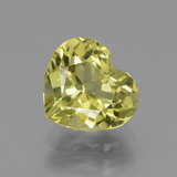 thumb image of 2.2ct Heart Facet Greenish Golden Apatite (ID: 439012)