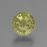 thumb image of 2.1ct Round Facet Golden Green Apatite (ID: 439019)