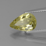 1.95 ct Pear Facet Pale Cream Yellow Apatite Gem 10.79 mm x 7.2 mm (Photo B)