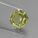 thumb image of 2.5ct Asscher Cut Golden Green Apatite (ID: 439056)
