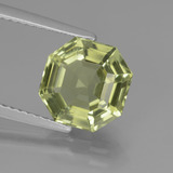 thumb image of 3.2ct Asscher Cut Golden Green Apatite (ID: 439093)