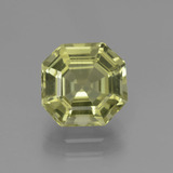 thumb image of 2.8ct Asscher Cut Greenish Golden Apatite (ID: 439096)
