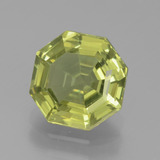 thumb image of 2ct Asscher Cut Greenish Golden Apatite (ID: 439164)
