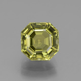 thumb image of 3ct Asscher Cut Golden Green Apatite (ID: 439201)