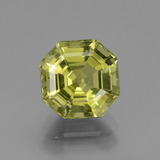 thumb image of 3.3ct Asscher Cut Golden Green Apatite (ID: 439205)