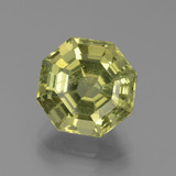 thumb image of 4.3ct Asscher Cut Golden Green Apatite (ID: 439311)