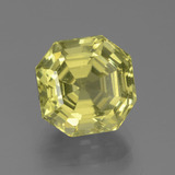 thumb image of 4.9ct Asscher Cut Greenish Golden Apatite (ID: 439317)