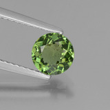thumb image of 0.8ct Round Facet Green Apatite (ID: 440261)