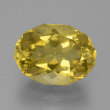 thumb image of 6.7ct Oval Fancy Facet Greenish Golden Apatite (ID: 447314)