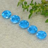 thumb image of 0.4ct Oval Facet Deep Baby Blue Apatite (ID: 488815)