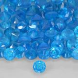 thumb image of 0.1ct Round Facet Blue Apatite (ID: 503687)