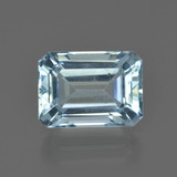 thumb image of 3.3ct Octagon Facet Light Blue Aquamarine (ID: 408536)