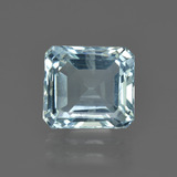 thumb image of 3.7ct Octagon Facet Light Blue Aquamarine (ID: 408537)