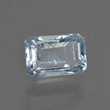 2.47 ct Octagon Facet Light Blue Aquamarine Gem 9.63 mm x 6.4 mm (Photo B)