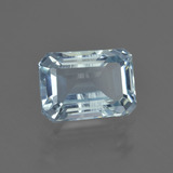 thumb image of 2.5ct Octagon Facet Light Blue Aquamarine (ID: 408556)