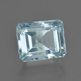 3.18 ct Octagon Facet Light Blue Aquamarine Gem 9.51 mm x 7.7 mm (Photo B)
