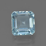 thumb image of 3.8ct Octagon Facet Light Blue Aquamarine (ID: 408625)