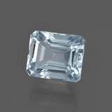 1.94 ct Octagon Facet Light Blue Aquamarine Gem 7.75 mm x 6.4 mm (Photo B)