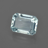 2.77 ct Octagon Facet Light Blue Aquamarine Gem 9.87 mm x 7.3 mm (Photo B)