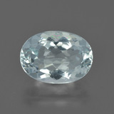 thumb image of 2.8ct Oval Facet Light Blue Aquamarine (ID: 408892)