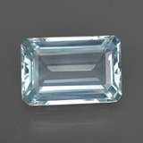 thumb image of 5.7ct Octagon Facet Light Blue Aquamarine (ID: 412273)