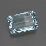 5.30 ct Octagon Facet Light Blue Aquamarine Gem 13.33 mm x 8.9 mm (Photo B)