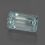 5.56 ct Octagon Facet Light Blue Aquamarine Gem 13.79 mm x 7.6 mm (Photo B)