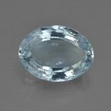 5.06 ct Oval Facet Light Blue Aquamarine Gem 13.57 mm x 10 mm (Photo B)