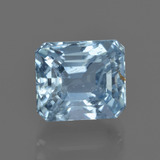 thumb image of 3.9ct Octagon Facet Light Blue Aquamarine (ID: 412502)