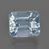 thumb image of 3.9ct Octagon Facet Light Blue Aquamarine (ID: 412508)