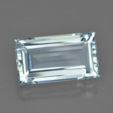 7.76 ct Baguette Facet Light Blue Aquamarine Gem 16.99 mm x 9.6 mm (Photo B)