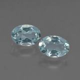 thumb image of 1.1ct Oval Facet Light Green Blue Aquamarine (ID: 418713)