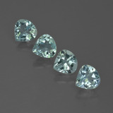 thumb image of 2.3ct Pear Facet Light Green Blue Aquamarine (ID: 418810)