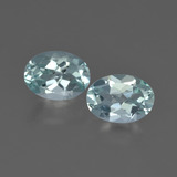 thumb image of 1.4ct Oval Facet Light Green Blue Aquamarine (ID: 418880)