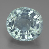 thumb image of 12.1ct Oval Facet Light Green Blue Aquamarine (ID: 433476)