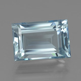 5.06 ct Baguette Facet Light Blue Aquamarine Gem 12.36 mm x 8.4 mm (Photo B)