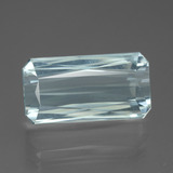 thumb image of 14ct Octagon / Scissor Cut Light Blue Aquamarine (ID: 450373)