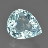 thumb image of 4.4ct Pear Facet Greenish Blue Aquamarine (ID: 450916)