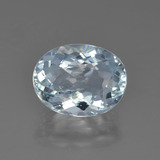 thumb image of 2.6ct Oval Portuguese-Cut Greenish Blue Aquamarine (ID: 451402)