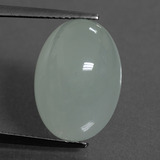thumb image of 11ct Oval Cabochon Greenish Blue Aquamarine (ID: 451464)