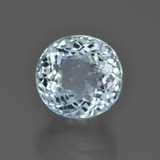 5.18 ct Oval Portuguese-Cut Light Blue Aquamarine Gem 10.42 mm x 9.8 mm (Photo B)