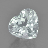 thumb image of 2ct Heart Facet Light Blue Green Aquamarine (ID: 458838)