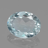 thumb image of 2ct Oval Facet Light Blue Green Aquamarine (ID: 459192)