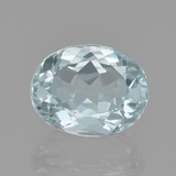 thumb image of 1.7ct Oval Facet Light Blue Green Aquamarine (ID: 459193)