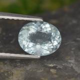 thumb image of 0.9ct Oval Facet Pale Blue Aquamarine (ID: 497420)