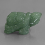 thumb image of 309.9ct Carved Turtle Green Aventurine (ID: 448468)